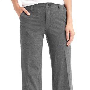 Gap Wide Leg Knit Pants in Charcoal Heather